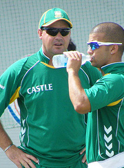 Mickey Arthur with JP Duminy