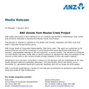 20130107_ANZ_divests_coal_hoax
