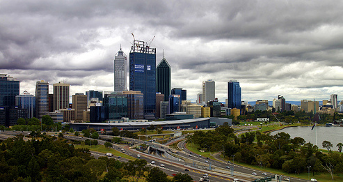 Modern Perth with its skyscrapers