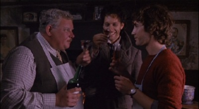 Richard Griffiths (left) with Withnail (Richard E. Grant) and I (Paul McGann)