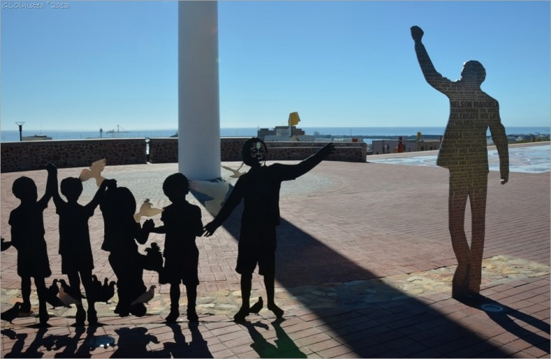 The voting line: a sculpture depicting Mandela and the 1994 election in Port Elizabeth