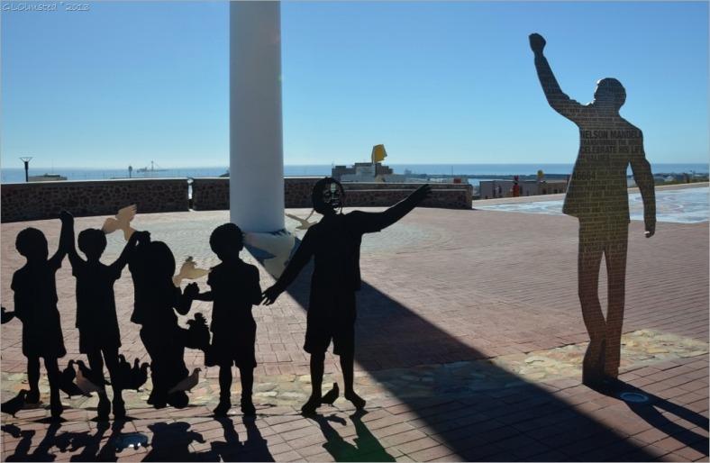 The voting line: a sculpture depicting Mandela and the 1994 election in Port Elizabeth
