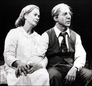 """Kate Reid and Dustin Hoffman in """"Death of a Salesman"""""""