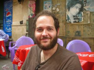 Having tea near Tahrir Square, Cairo - October 2010