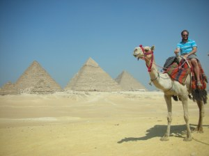 A very expensive camel ride at the Pyramids of Giza