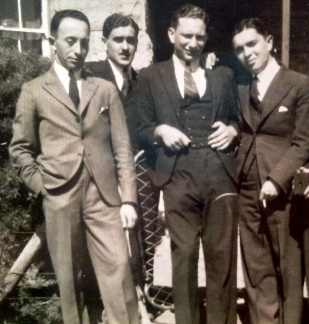 My grandfather Harry, far left - not quite how I remember him
