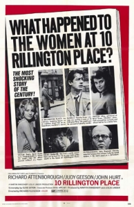 "A poster for the movie ""Ten Rillington Place"" starring Richard Attenborough"