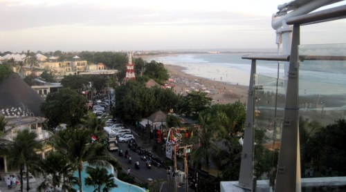 Seminyak, from the rooftop bar of Double Six Hotel