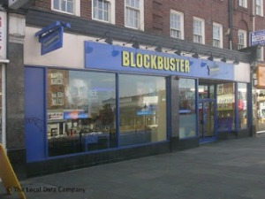 The Blockbuster store, Golders Green