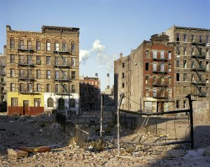 A photo of the Lower East Side of NY in 1980s