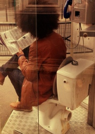 It's not the same reading an iPad on the toilet
